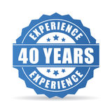 Forty years experience vector icon. On white background Royalty Free Stock Image