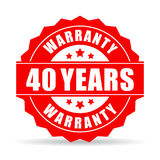 Forty years warranty vector icon Royalty Free Stock Photography