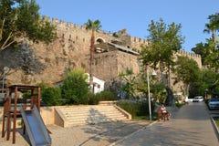 Fortyfikacja w Antalia Zdjęcie Stock