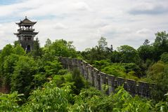 Fortyfikacja w Enshi Tusi cesarskim antycznym mieście w Hubei Chiny zdjęcie royalty free