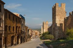 Fortyfikacje Montblanc miasteczko Fotografia Royalty Free