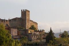 Fortyfikacje Montblanc miasteczko Zdjęcia Royalty Free