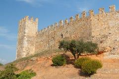 Fortyfikacje Montblanc miasteczko Obrazy Stock