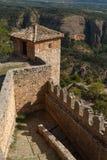 Fortyfikacje średniowieczny monaster w Alquezar Obraz Stock