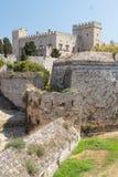 Fortyfikacje Rhodes UNESCO dziedzictwa miasteczko na Rhodes wyspie Obrazy Stock