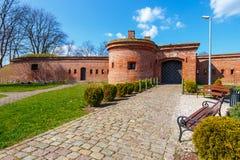 fortyfikacje w schronieniu w Kolobrzeg, Polska Zdjęcie Stock