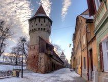 Fortyfikacje w Sibiu Obrazy Stock