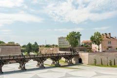 Fortyfikacyjne ściany Karolina bielu forteca Obrazy Stock