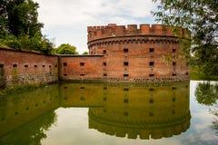 Fortyfikacyjny bastionu wierza Dera Dohna turm Teraz ja ` s bursztynu muzeum Kaliningrad Zdjęcie Stock