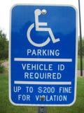 Foru parking znak Zdjęcie Stock