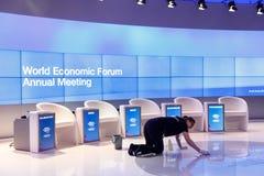 Forum économique mondial dans Davos Photographie stock libre de droits