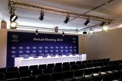 Forum économique mondial dans Davos Photos stock