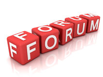 Forum. This is a 3D rendered picture Stock Images