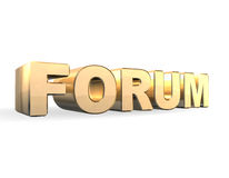 Forum 3d Gold. Forum in golden color and 3d Royalty Free Stock Photo