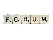 Forum. The word forum spelled out Royalty Free Stock Photo