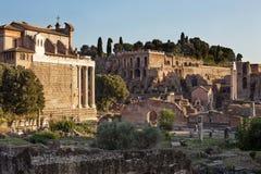 Forum of acient Rome. Italy Stock Photo