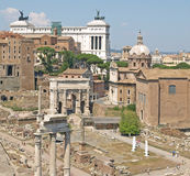 The Forum across to The Vittorio Emanuele Monument Stock Photography