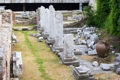 Forum antico con Odeon a Filippopoli, Bulgaria Immagine Stock