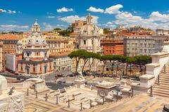 Forum antico di Traiano a Roma, Italia Immagini Stock Libere da Diritti