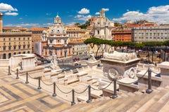 Forum antico di Traiano a Roma, Italia Fotografie Stock