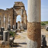 Forum area at  Volubilis Capitol Stock Image