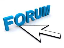 Forum and arrow Stock Photography