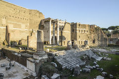 Forum august rome Italy europe Royalty Free Stock Image
