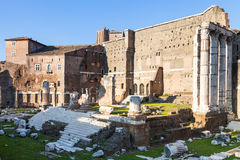 Forum of Augustus on ancient roman forums in Rome Royalty Free Stock Image