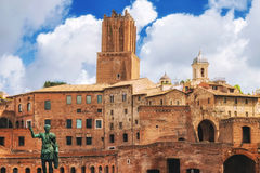Forum of Augustus Foro di Augusto in Rome. Italy Royalty Free Stock Photos