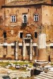 Forum of Augustus Foro di Augusto in Rome. Italy Stock Photos