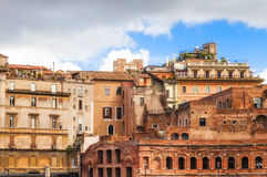 Forum of Augustus Foro di Augusto and the surrounding archutecture in Rome. Forum of Augustus Foro di Augusto and the surrounding architecture in Rome, Italy Royalty Free Stock Photography