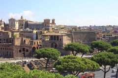 Forum of Augustus in the Imperial Fora, Rome, Italy Royalty Free Stock Images