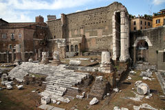 Forum of Augustus, Rome. The Forum of Augustus is one of the Imperial forums of Rome, Italy, built by Augustus. It includes the Temple of Mars Ultor stock photography