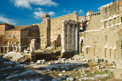 Forum of Augustus in Rome Stock Image