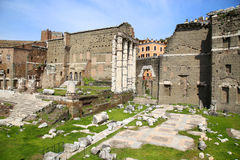 The Forum of Augustus in Rome, Italy Royalty Free Stock Image