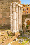 Forum of Augustus in Rome, Italy. Royalty Free Stock Images