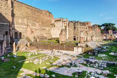 Forum of Augustus in Rome, Italy Royalty Free Stock Photo