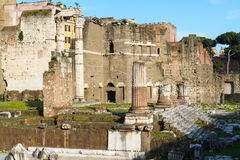 Forum of Augustus in Rome, Italy Royalty Free Stock Images