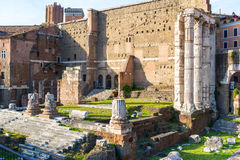 Forum of Augustus in Rome, Italy Royalty Free Stock Photos