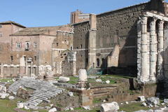 Forum of Augustus in Rome Royalty Free Stock Photo