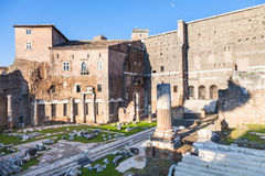 Forum of Augustus in Rome Stock Images