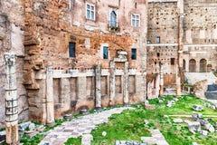 Forum of Augustus, ruins in via dei Fori Imperiali, Rome Stock Photos