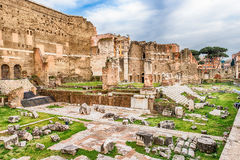 Forum of Augustus, ruins in via dei Fori Imperiali, Rome Stock Photo