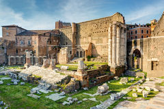 Forum of Augustus with the temple of Mars Ultor in Rome Stock Images
