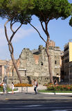 Forum of Augustus, view  from Via dei Fori Imperiali Royalty Free Stock Photos