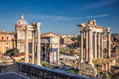 Forum av Caesar i Rome Royaltyfri Foto