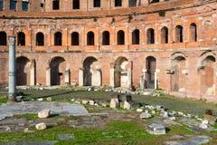 Forum av Trajan i Rome Royaltyfri Foto