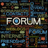 Forum backgrounds with the words. Background with the words on the topic of social networking