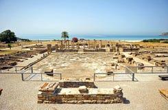 Forum Baelo Claudia w Tarifa, Cadiz prowincja, Hiszpania fotografia stock