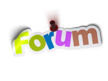 Forum banner Royalty Free Stock Photography